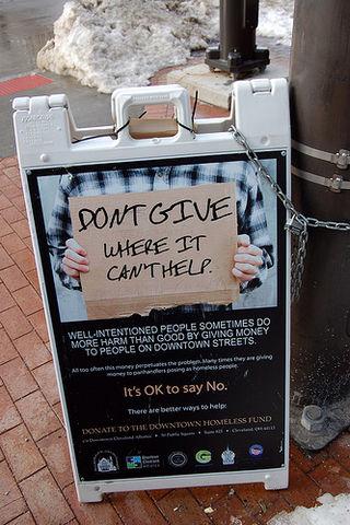 Cleveland panhandling