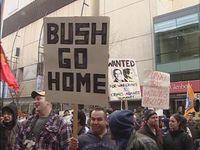 Bush calgary protes