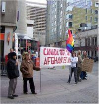 Condoleezza rice protest afghanistan