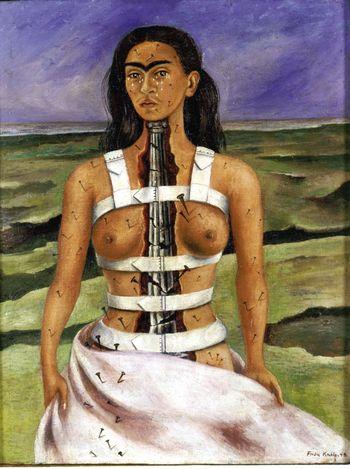FridaKahlo-The-Broken-Column-1944